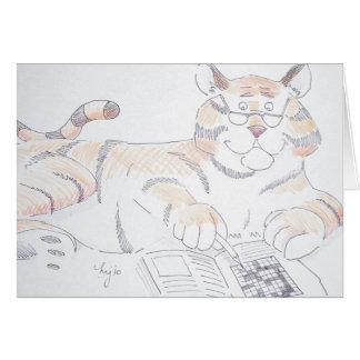 Tipo de gato, 5 letras… tarjeta de felicitación