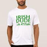 Tipo de Iirsh con actitud Camiseta