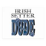 TIPO de Irish Setter Postal