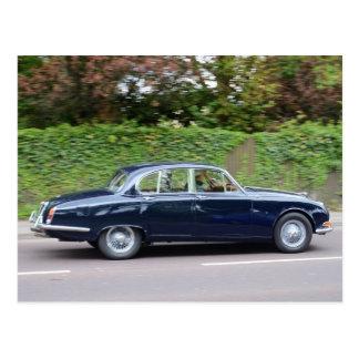 tipo de Jaguar S de los años 60 Tarjeta Postal