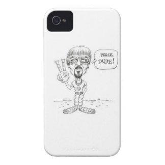TIPO DE LA PAZ DEL ~ DE LA CÉLULA iPhone 4 Case-Mate PROTECTORES