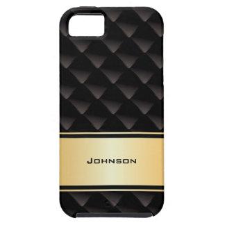Tipo de lujo negro y de oro modificado para iPhone 5 funda