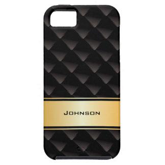 Tipo de lujo negro y de oro modificado para requis iPhone 5 Case-Mate carcasa