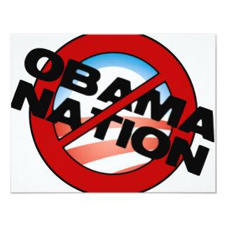 """Tipo de ObamaNation Invitación 4.25"""" X 5.5"""""""