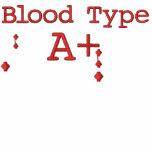 Tipo de sangre A+ Sudadera con capucha bordada