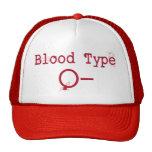 Tipo de sangre negativa de O Gorra