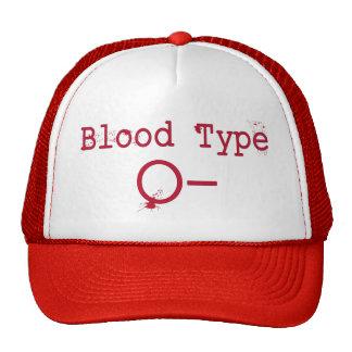 Tipo de sangre negativa de O Gorros