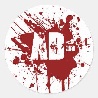 Tipo de sangre negativo del AB zombi del vampiro Etiquetas Redondas