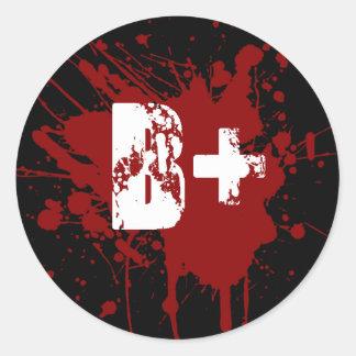 Tipo de sangre positivo de B zombi del vampiro de Pegatinas Redondas