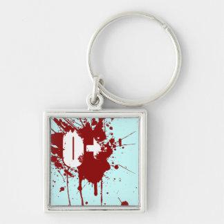 Tipo de sangre positivo de O zombi del vampiro de  Llaveros Personalizados