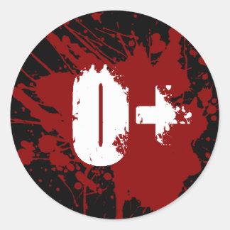 Tipo de sangre positivo de O zombi del vampiro de Etiquetas Redondas