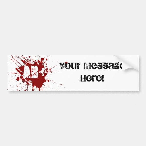 Tipo de sangre positivo del AB zombi del vampiro d Etiqueta De Parachoque