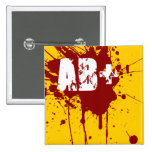 Tipo de sangre positivo del AB zombi del vampiro d Pin