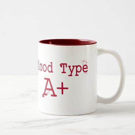 Tipo de sangre un positivo tazas de café