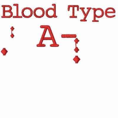Tipo de sangre una camiseta bordada