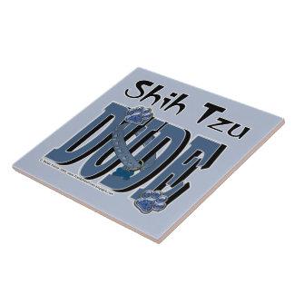 TIPO de Shih Tzu Azulejo Cuadrado Grande
