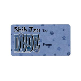 TIPO de Shih Tzu Etiquetas De Dirección