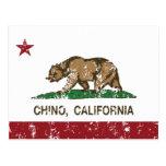 Tipo de tela de algodón de la bandera del estado tarjeta postal