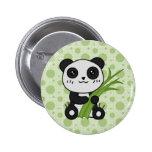 Tipo de tela de algodón el botón de la panda
