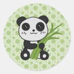 Tipo de tela de algodón la panda pegatina redonda