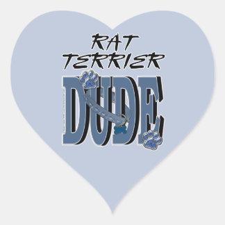 TIPO de Terrier de rata Pegatina En Forma De Corazón