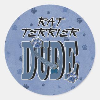 TIPO de Terrier de rata Pegatina Redonda