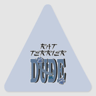 TIPO de Terrier de rata Pegatina Triangular