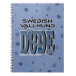 TIPO de Vallhund del sueco Libros De Apuntes Con Espiral