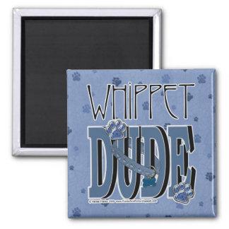 TIPO de Whippet Imán Cuadrado