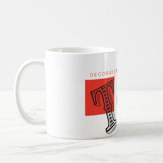 Tipo decorativo taza