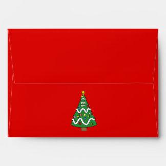 Tipo del árbol de navidad sobres