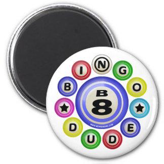 Tipo del bingo B8 Imán Redondo 5 Cm