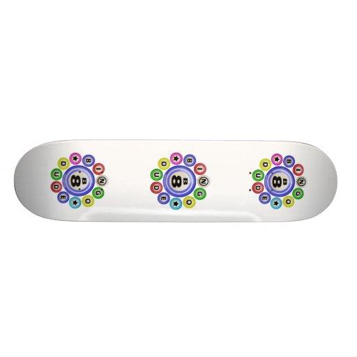 Tipo del bingo B8 Tablas De Skate