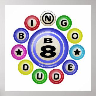 Tipo del bingo B8 Póster