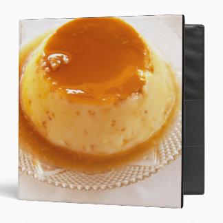 """Tipo del caramelo de nata de pudín con caramelo carpeta 1 1/2"""""""