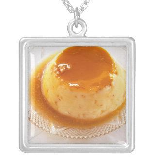 Tipo del caramelo de nata de pudín con caramelo colgante cuadrado