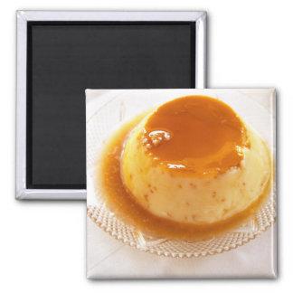 Tipo del caramelo de nata de pudín con caramelo imán cuadrado