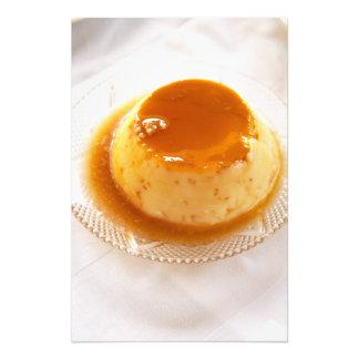 Tipo del caramelo de nata de pudín con caramelo fotografia