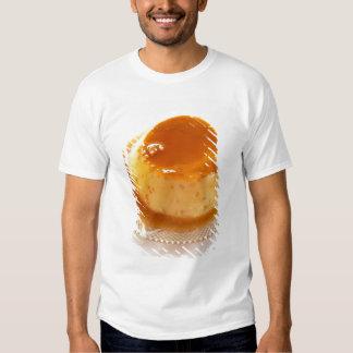 Tipo del caramelo de nata de pudín con caramelo polera