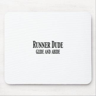 Tipo del corredor (el deslizamiento y respeta) mouse pad
