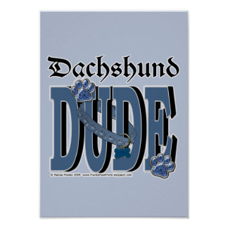 TIPO del Dachshund Poster