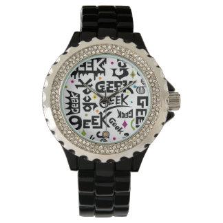 Tipo del friki relojes de pulsera