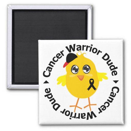 Tipo del guerrero del cáncer del melanoma imanes de nevera