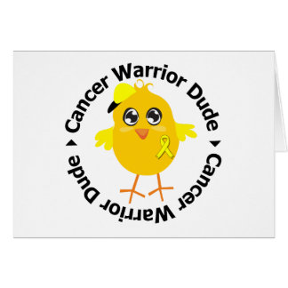 Tipo del guerrero del cáncer testicular tarjeta de felicitación