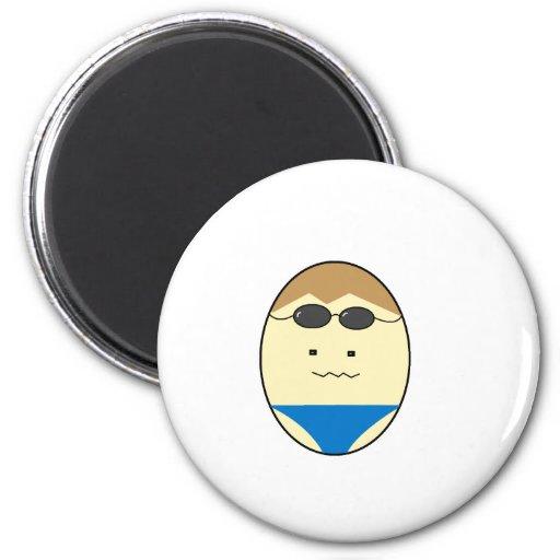 Tipo del huevo del individuo del nadador imán para frigorifico