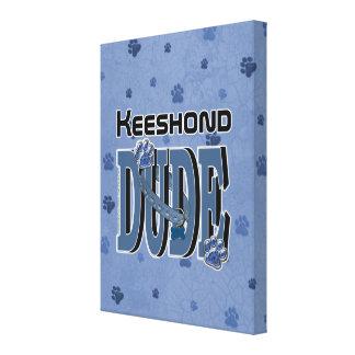 TIPO del Keeshond Impresión En Lona