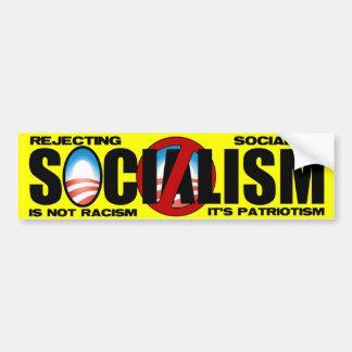 Tipo del socialismo pegatina para auto