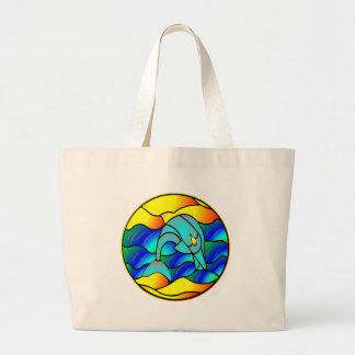 Tipo delfín del vitral bolsa de mano