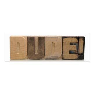 ¡tipo! en el viejo tipo de madera señal plantillas de tarjetas de visita