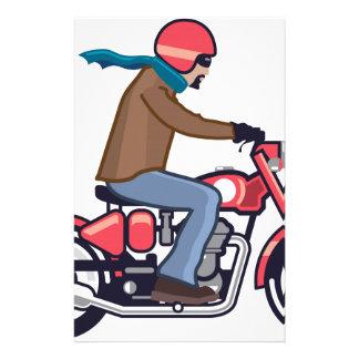 Tipo en la motocicleta personalized stationery